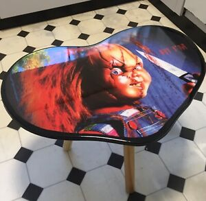 Child's Play Chucky Doll Heart coffee or side table. Great gift for Horror fan