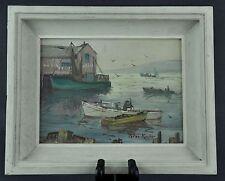 Peter Koster (1891-1978), Rockport Harbor Oil Painting. (BI#BSM/MK)