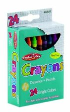 Creative Arts by Charles Leonard Crayons, Assorted Colors, 24