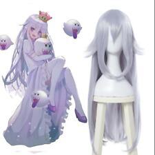 Boosette Booette Princess Teresa Cosplay Wig Silver White Long Straight  NN.45