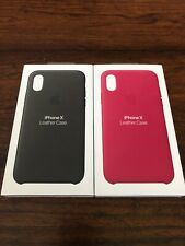 Genuine Apple Iphone X Leather Cases Pink And Black (BOXES ONLY)