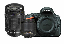 Nikon D5500 Digital SLR Body + AF-S 18-55 VR + 70-300mmG Lens Bundle Kit *New*