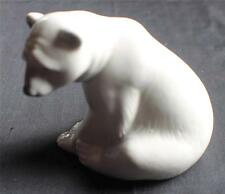 "Vintage LLADRO #1209 Hand Painted SEATED POLAR BEAR 3 1/2""h Figurine"