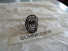 Premier Designs GROOVY black hematite swirl ring sz 5 RV $39 free ship