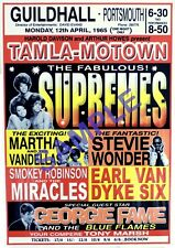 Tamla Motown Vintage Poster Repro - Supremes, Martha Reeves, Smokey Robinson