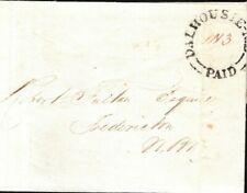 CANADA Cover *Dalhousie* NEW BRUNSWICK Scarce Origin Fredericton 1842 LS2