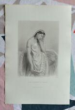Belle Gravure XIXème - Sara Femme de Tobit - Ancien Testament - G.Staal