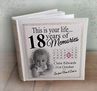 "Personalised large photo album, 200 x 6x4"" photos, 18th birthday memories gift"