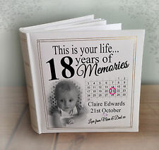 "Personalised large photo album, 200 x 6x4"" photos, 18th birthday memories gift"
