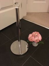 Crystal Diamante Chrome Toilet Kitchen Roll Stacker Holder Stand New Sparkle