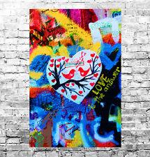 STUNNING ABSTRACT GRAFFITI POP ART CANVAS #35 GRAFFITI WALL ART CANVAS PICTURE