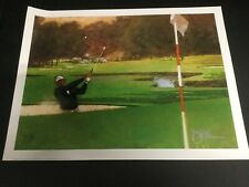 """""""SAND WEDGE"""" LITHOGRAPH PRINT SIGNED BY BART FORBES  19"""" X 25""""  1991"""