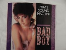 "MIAMI SOUND MACHINE ""BAD BOY"" PICTURE SLEEVE! NEW! NICEST COPY ON eBAY!"