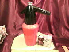 Vtg Bar Kidde Soda King Syphon Classic Red Bottle Mod. 7 & 9 chargers-free ship