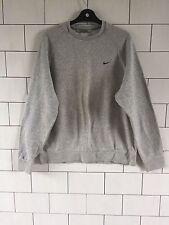 Para Hombre desechados Vintage Retro años 90 Gris Sudadera Nike Suéter Overhead Grande #3.2