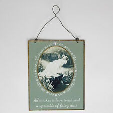 "Sass & Belle Vintage ""sprinkle of Fairy Dust"" Sign Hanging Decoration 17x14cm"