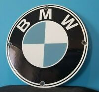 VINTAGE BMW PORCELAIN GAS AUTOMOBILE SERVICE STATION DEALERSHIP SALES SIGN