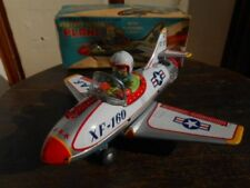 USED Nomura Toy fighter plane airplane XF-160 Tin Toy with box From JAPAN F/S