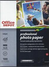 Professional Inkjet Photo Paper, 8.5 x 11, 100 sheets - Brilliant Gloss Platinum