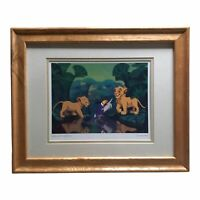 Walt Disney Lion King Simba, Zazu, And Nala Framed Matted Print