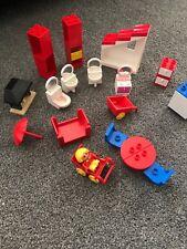 LEGO Duplo House Set Spares Bathroom, Fire, Bed, Pram, Wheelbarrow, Fridge,