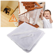 New White Kids Children Pets Secure Safety Balcony Deck Stair Gates Mesh Net