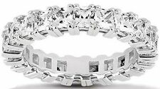 5.24 carat Princess Cut Diamond Wedding Band Eternity Ring F color VS clarity