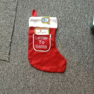 Red letter to Santa stocking new