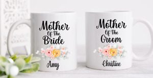 Personalised Mother Of The Bride / Groom Mug Cup Set Wedding Gifts
