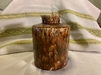 Art Pottery Brown Drip Glaze/Spatterware Vase~Old Piece