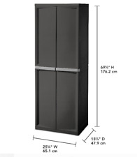 Cabinet Storage Lockable Organizer Pantry Dorm Room 4 Adjustable Shelves Kitchen