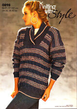 Retro Knitting with Style Pattern, 0898, Lady's Cable & Fairisle Sweater, 34-40