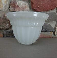 Vtg Art Deco Large Heavy Dome Shaped White Glass Shade Signed Jefferson #1442
