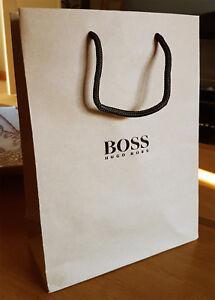 Hugo Boss Gift Bag Paper Small 22 x 30 x 10cm Brown Genuine Brand New