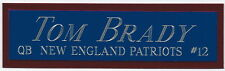 TOM BRADY NEW ENGLAND PATRIOTS NAMEPLATE FOR AUTOGRAPHED Signed FOOTBALL JERSEY