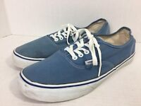 Vans TB5B Canvas Skateboard Shoes Off The Wall Mens US 12 Women's 13.5 Baby BLUE