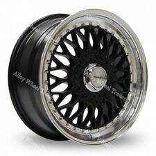 "15"" CERCHI IN LEGA NERO BSX si adatta VOLKSWAGEN CADDY DERBY POLO LUPO GOLF 4x100"
