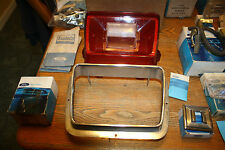 **NOS**1969 Ford Galaxie Tail Light Lens #C9AZ-13450-A and CHROME BEZAL