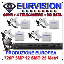 Kit Videosorveglianza DVR 4 Canali 3000  + 4 SONY 3000 + HD SATA  + ALIM