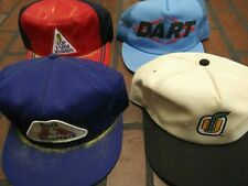 Lot of 4 vintage mesh patch trucker hats 2 K brand products USA made snapback