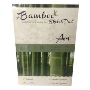 BAMBOO SKETCH PAD A4 105gsm 50 Sheets Acid Free 100% Bamboo Fibre Drawing/Art