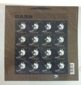 U.S. POSTAGE FOREVER STAMPS, SHEET OF 16 JOHNNY CASH IN SEALED PACKAGE