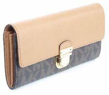 Michael Kors Bridgette Purse Wallet Brown Acorn Saffiano Leather Large RRP £180