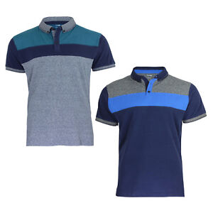 Ex Dunnes New Men's Short Sleeved Cotton Polo Shirts With Button Down Collar