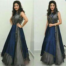 Indian Stylish Designer Bollywood Party Brown Gown Anarkali Salwar Suit Dress