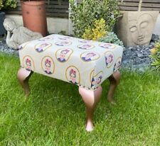 Frida Kahlo Print Foot Stool with Rose Gold legs