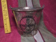 """Vtg Blue No Date Schuetzenfest Altamont Il. Metal Beer Bucket 5.3"""" Tall nr"""