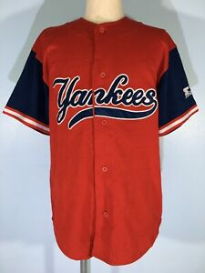 NEW YORK NY YANKEES RED MAJESTIC VINTAGE MLB BASEBALL TEEs SHIRT JERSEY MENS M