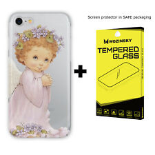 Angel Slim Phone Case Cover For iPhone 5s SE 7/8 X XS with Screen Protector