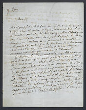 Ivan Golovin Signed Political Letter from Exile 1848 - Russian Publicist